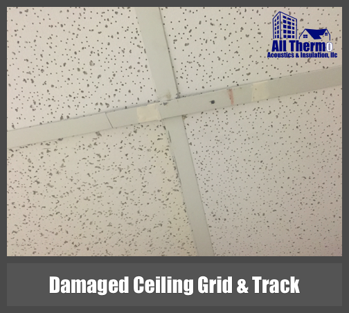 Damaged Ceiling Grind and Track